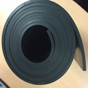 Black Fabric Reinforced Rubber