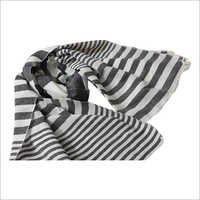 Black And White Horizontal Striped Scarves