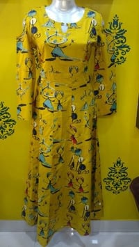Cold Shoulder Cotton Printed Kurti