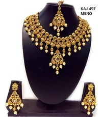Arabic And Yaman Style Gold Necklace