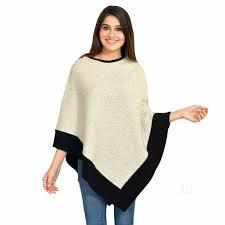 Sleeveless Boat Neck Poncho Top