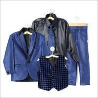 Blue Coat Suit with Shirt Blazer Waistcoat Tie and Pant