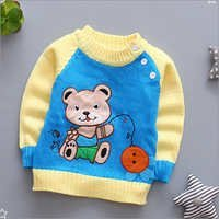 Cartoon Print Kids Sweater
