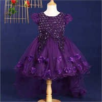 Charming Purple Embroidered Dress