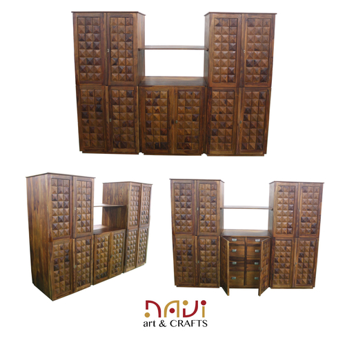 Diamond Design Wooden Cabinet