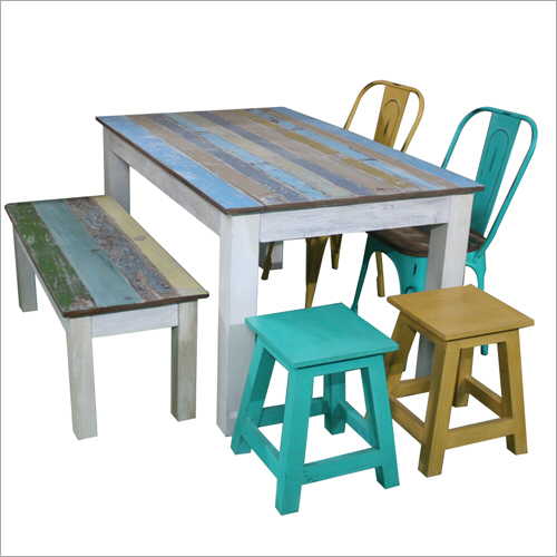 Reclaim Wood Dining Table Set