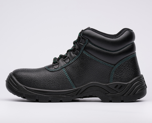 Embossed Leather Upper PU Safety Shoes