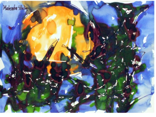 Sun With Birds Paintings