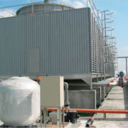 Precisely Engineered Draft Cooling Tower in  Industrial Area
