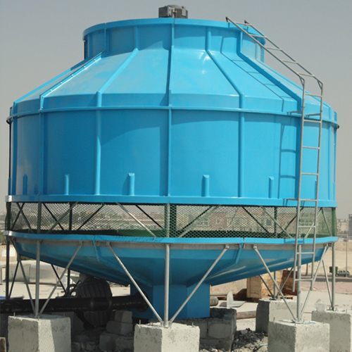 Round Shape Cooling Tower in  Industrial Area