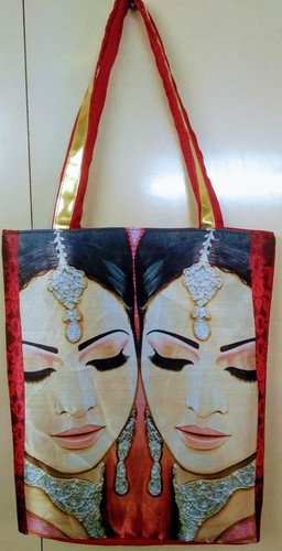 Large Size Ladies Ethnic Tote Bags