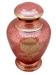 Top Quality Rose Pink Brass Urn