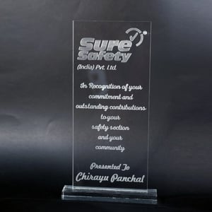 Engraved Acrylic Trophy
