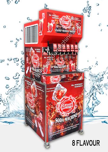 Automatic 8 Flavor Soda Fountain Machine