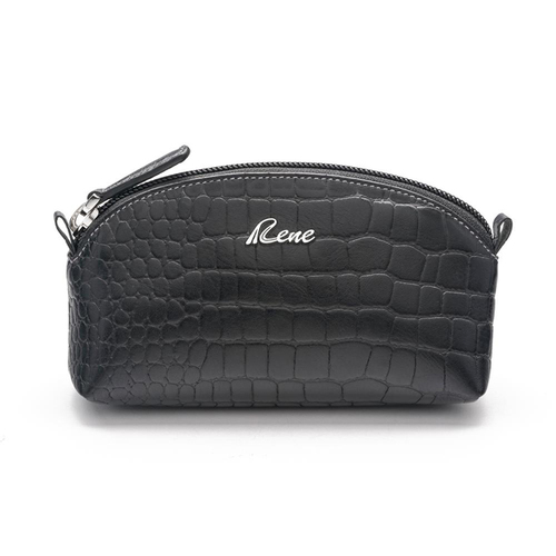 RENE Genuine Leather Black Color Coin Pouch G-3-BLACK - RENE