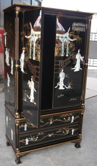 Attractive Oriental Lacquer Drawer