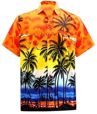 Short Sleeve Button Down Casual Beach Party Hawaiian Shirt