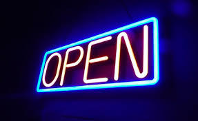 Open Neon Sign