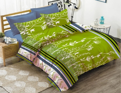 Pure Cotton Printed Double Bedsheet Set
