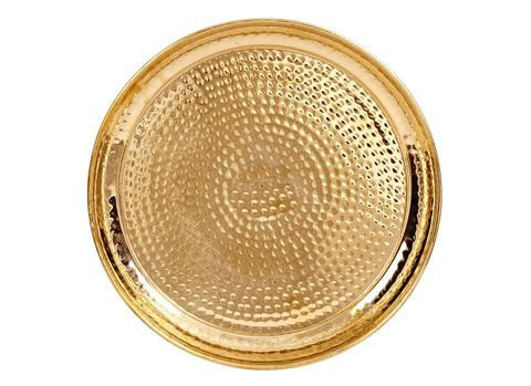 Indian Craftio Pure Brass Hammered Dinner Thali Set