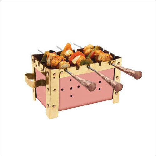 Indian Craftio Pure Copper Barbecue For Kebab