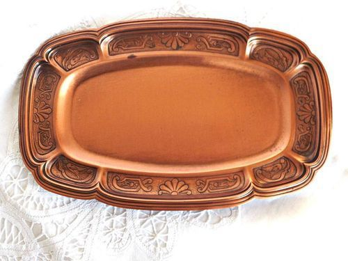 Indian Craftio Pure Copper Serving Tray