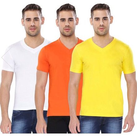Half Sleeves V Neck T-Shirts