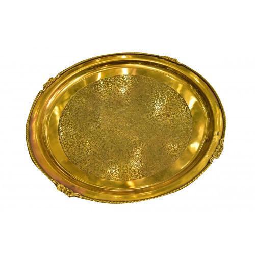 Indian Craftio Pure Brass Embossed Thali