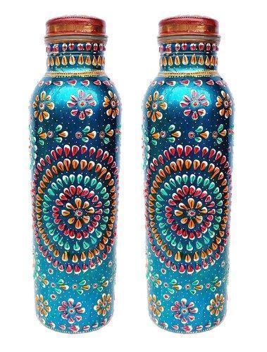 Indian Craftio Pure Copper Diamond Water Bottle