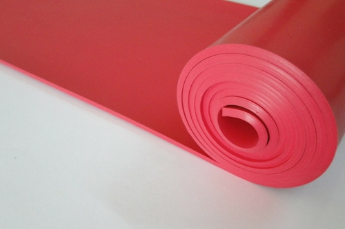 Red Natural Rubber Sheet