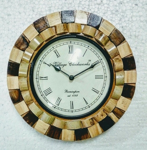 Decorative Handcrafted Wooden Wall Clock