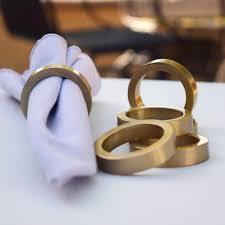 Napkin Rings Brass