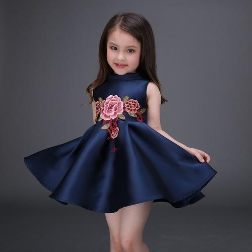 Kids Embroidered Party Wear Dress Shagoofa Fashions Plot No2503