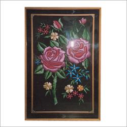 Reshami Flower Wall Painting