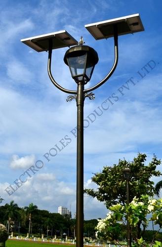 Decorative Double Pole Solar Garden Light