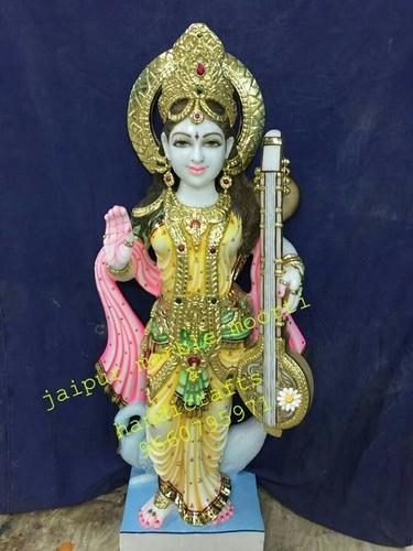 Saraswati Mata Marble Statues