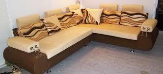 L Shape Wooden Sofa