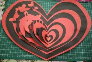 Handmade Card For Valentine's Day
