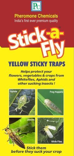 Plastic Yellow Sticky Insect Trap
