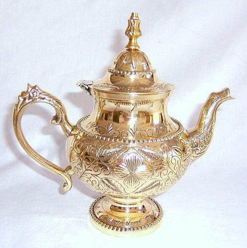 Polished Brass Teapot