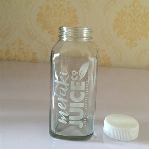 10oz French Square Juice Bottle
