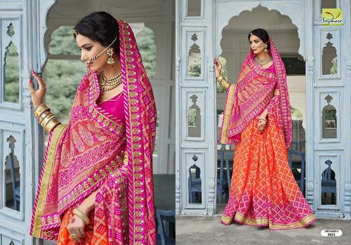 20a01c9b5d Traditional Bandhej Saree in Surat, Gujarat - SEYMORE PRINT PVT. LTD.