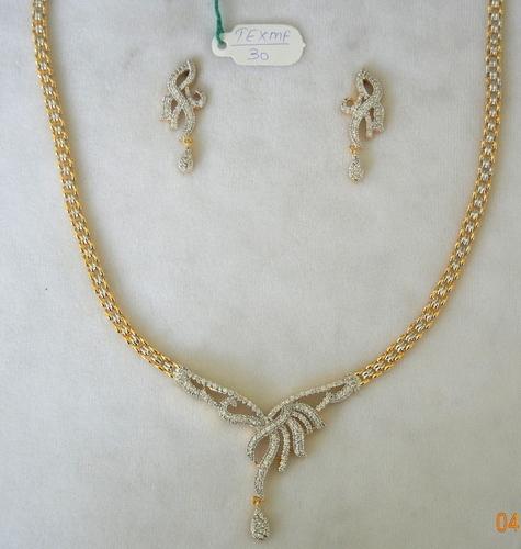 American Diamond Jewellery Chain Pendant