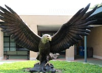 Fiberglass Eagle Sculpture