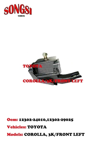 Engine Mounting-Toyota Corolla 3K Front Left