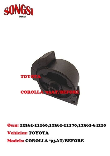 Engine Mounting-Toyota Corolla 93 AT Before