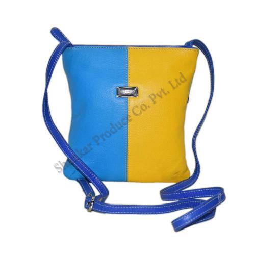 Multicolor Leather Ladies Sling Bag