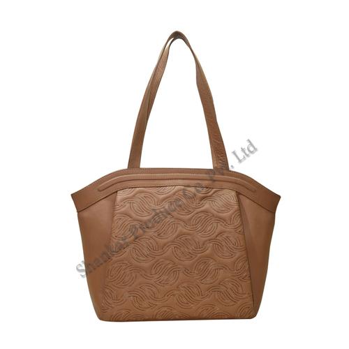 Tan Color Leather Shoulder Bags