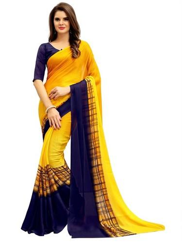 Designer Georgette Printed Saree in  Varachha
