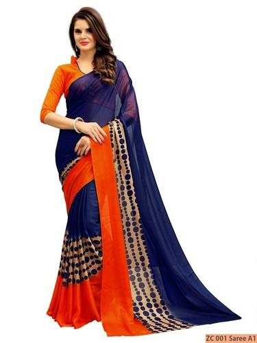 Exclusive Fancy Georgette Printed Saree in  Varachha